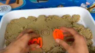 Кинетический песок  Игры для детей с песком