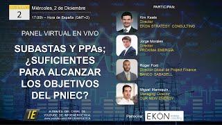 ¿Son necesarias las Subastas en España para lograr los objetivos del PNIEC? - PANEL VIRTUAL IE