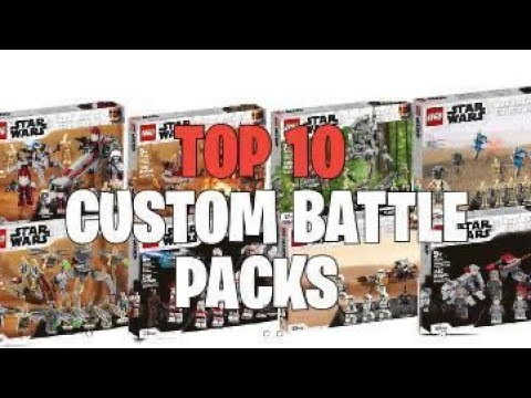 TOP 10: LEGO ® STAR WARS Custom Battle Packs