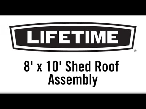 8'x10' Shed Roof Assembly