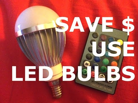 How to Save Money with LED Bulbs - Energy Saving, Color Changing Lights by Auraglow & Aliexpress