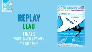 IFSC Climbing World Youth Championships Noumea 2014 - Lead - Finals - Youth B All/Youth A Men