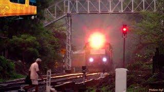 IR's New Sensation TEJAS Express Races Past at Full Speed Through Beautiful Konkan Railway !!