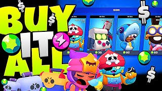 BUYING THE ENTIRE SHOP in BRAWL STARS