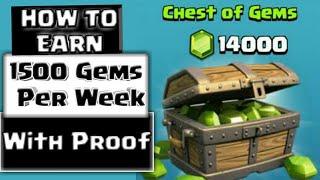 Get Free Gems in Clash of Clans | Earn 1500 Gems per Week