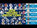 Predicting Every Team's Record for 2018 Season | NFL