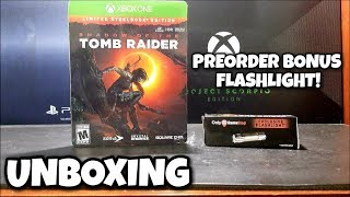 Shadow of the Tomb Raider EXCLUSIVE FLASHLIGHT + Steelbook UNBOXING!