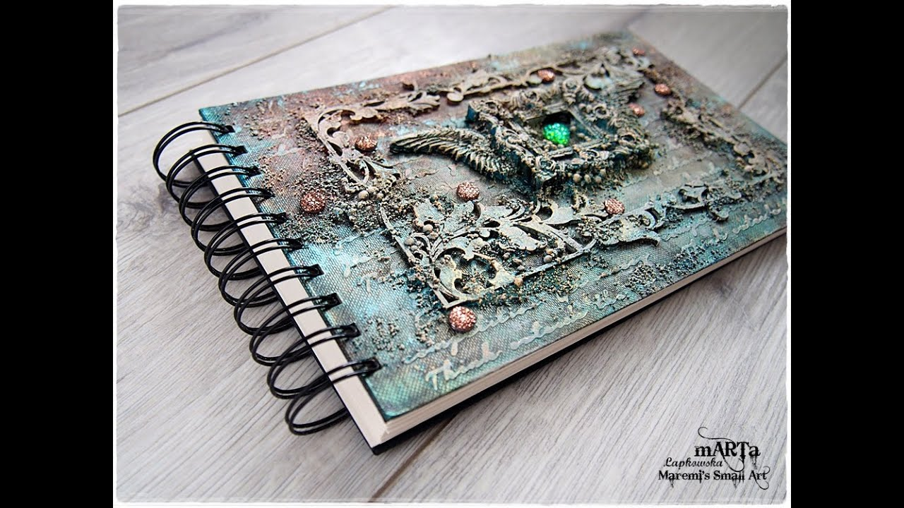 Altered Book Cover Tutorial ~ Steampunk mixed media journal cover tutorial youtube