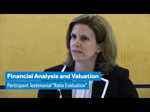 """Financial Analysis and Valuation: Participant Testimonial """"Ratio Evaluation"""""""