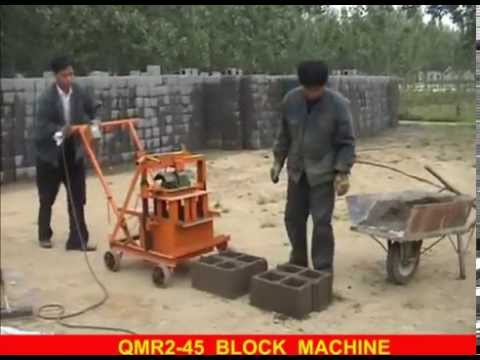 China Small Manual Mobile Concrete Hollow Block Making