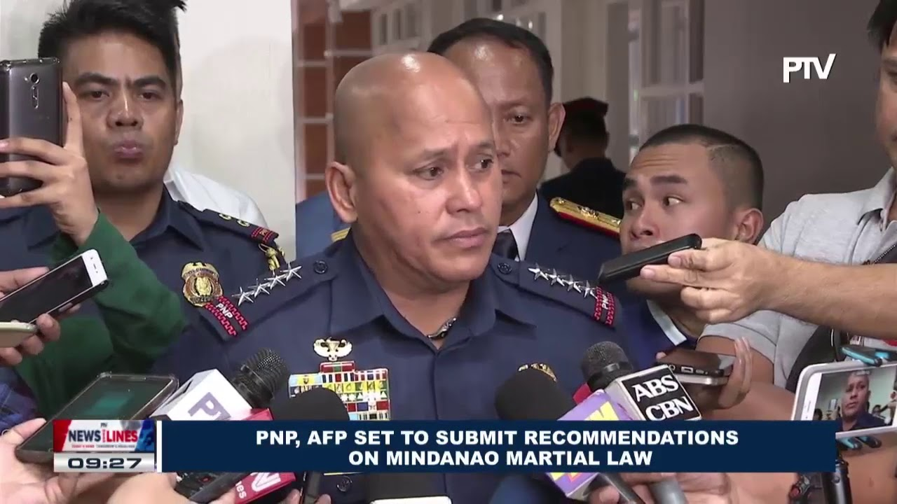 recommendation about martial law The absence of a recommendation for martial law from defense secretary delfin lorenzana is not a requirement for the president to declare it, solicitor.