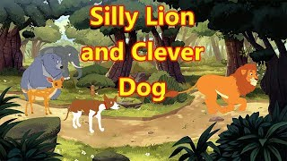 Silly Lion and Cleaver Dog   English Cartoon for Children   Moral Stories   Maha Cartoon TV English