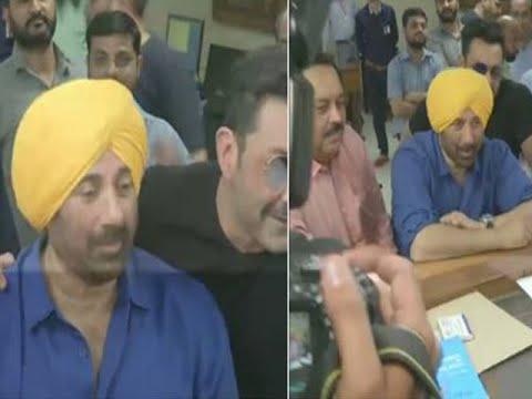 BJP's Sunny Deol files nomination from Gurdaspur, Punjab