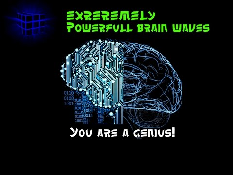 WARNING! Extremely Powerful Subliminal Brainwaves 12HZ - Genius Brainpower