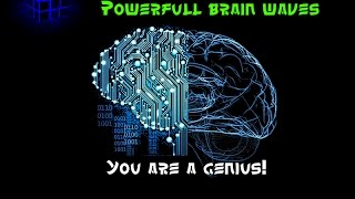 WARNING! Extremely Powerful Subliminal Brainwaves 12HZ - Genius Brainpower