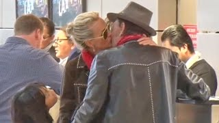 X17 EXCLUSIVE: Johnny Hallyday's Family Bid Him Farewell At LAX