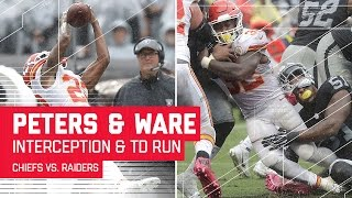 Marcus Peters' INT Leads to Spencer Ware's TD Blast! | Chiefs vs. Raiders | NFL