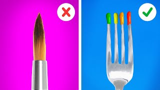 Simple Painting Tricks For Beginners And Professionals || Homemade Art Tutorial