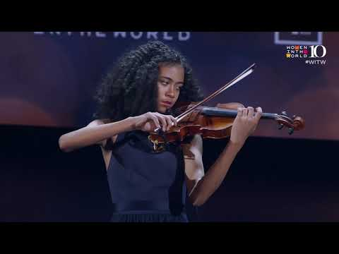 Violinist Pilar Hill, 13, Performs At The 2019 WITW Summit