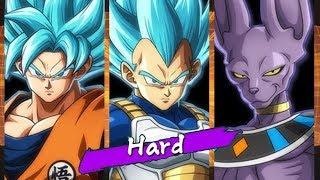 Dragon Ball FighterZ - Goku(SSGSS)/Vegeta(SSGSS)/Beerus Arcade Mode (HARD)
