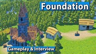 Foundation | Medieval gridless City Builder ► gamescom 2017 #gamescom2017