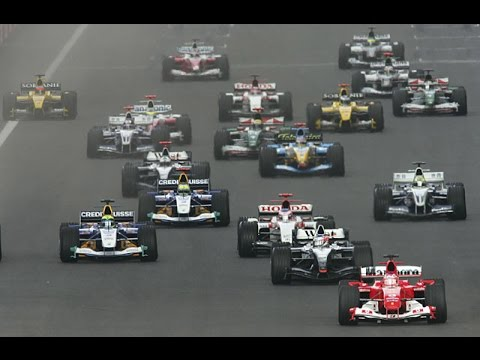 Gp da China 2004 Corrida editada Parte 1 (Largada) - China Grand prix 2004