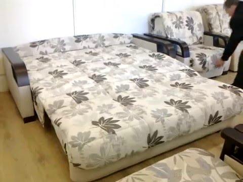 Механизм раскладки дивана Выкатной - диван Бостон - YouTube