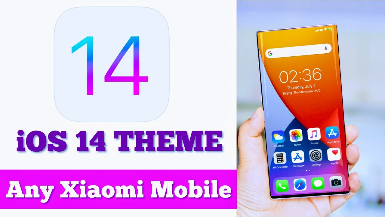 MIUI iOS 14 Theme for Xiaomi redmi mobile  ios 14 widget  iOS Boot animation  iOS control center