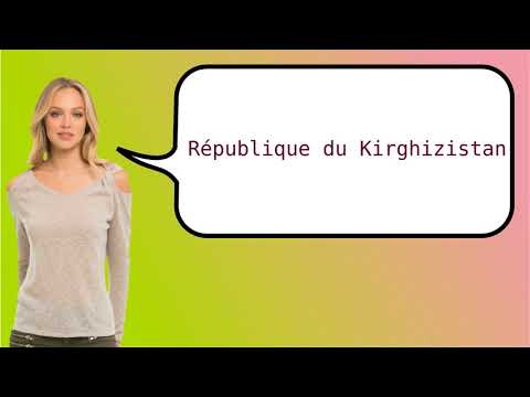 How to say 'Kyrgyz Republic' in French?