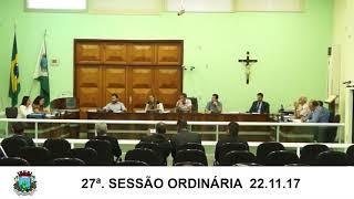 Sessão da Câmara 22.11.17