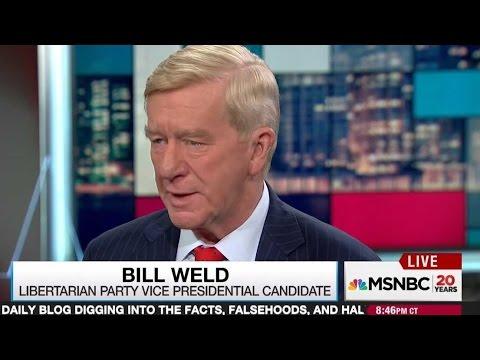 Libertarian VP candidate Bill Weld vouches for Hillary Clinton