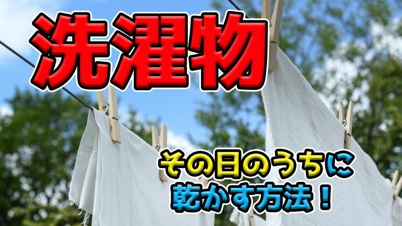 洗濯物を早く乾かす方法!洗濯したばかりの服でも今すぐ着れる?