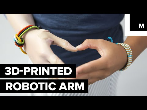 3D-printed robotic arm