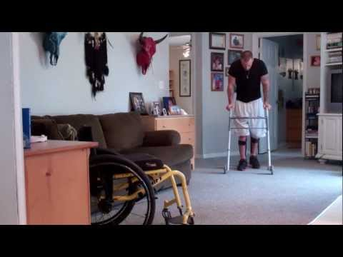 paraplegic standing and walking with kfo's