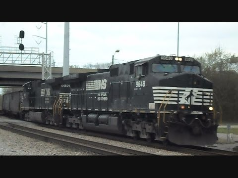 Norfolk Southern Coal Train Crosses Drawbridge Norfolk Virginia