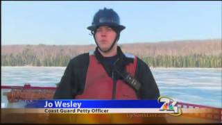 Ice cutter ship rescues