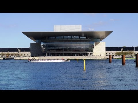 Opera house in Copenhagen, Denmark