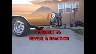 project 76 a 1971 chevelle malibu build for dad and moms 40th anniversary reveal and reaction