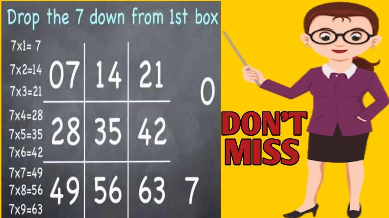 7 Times table trick    Math trick for table of 7!    Vedic ...Sai Kiran Vedic Maths