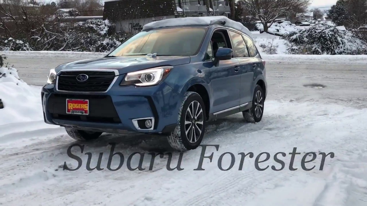 2017 Subaru Forester Vs Competition On The Snow Hill Test