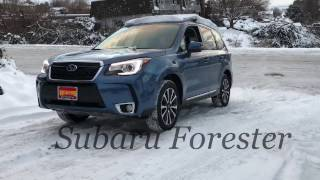 2017 Subaru Forester Vs. Competition on the Snow Hill Test
