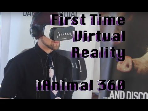First Time Virtual Reality |  iAnimal 360 | VegFest Los Angeles 2016 | VeganCheesehead