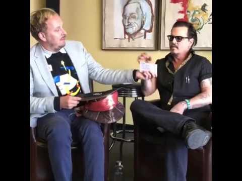 Johnny Depp and James Bobin