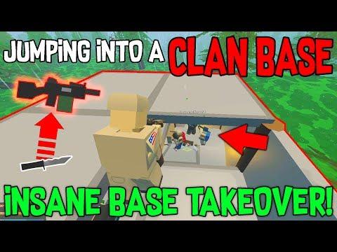 INSANE CLAN BASE TAKEOVER !!! 🔥 5 MAN CLAN BASE RAID ( Unturned Semi Vanilla )