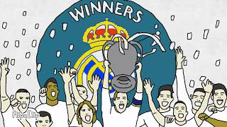 Real madrid champions ucl 13th in animation - historical of real madrid