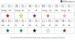 Les couleurs en chinois (pour les enfants)
