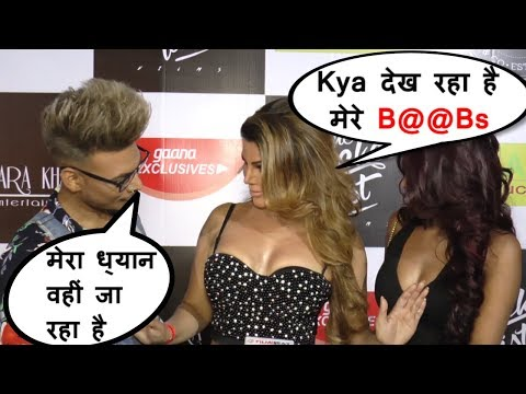 Rakhi Sawant VULGAR talk in front of media | Heart Album Launch