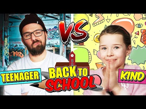 KIND vs. TEENAGER - BACK TO SCHOOL - Lulu & Leon - Family and Fun