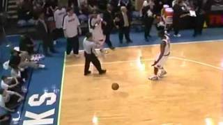 allen iverson throws ball at referee gets t d up