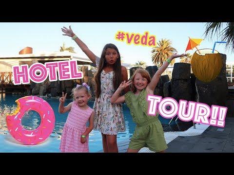 HOTEL TOUR! + POOL SURFING CHALLENGE! + UBER SURPRISE ENDING!!